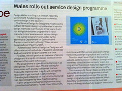 Design Wales Service Design programme featured in Design Week February 2011