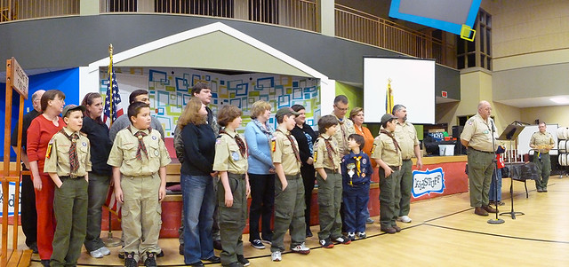 Pack 52 Blue and Gold Banquet - Webelos II Cubs, their parents and Council Executive