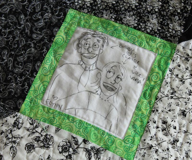 Wedding quilt square