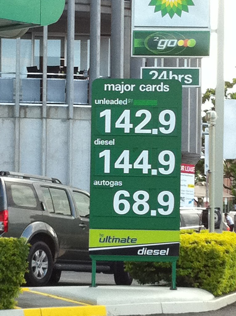 American Reality Check:  The Current Price of Gas in Brisbane, Australia, With Notes on Canada, the EU and the UK