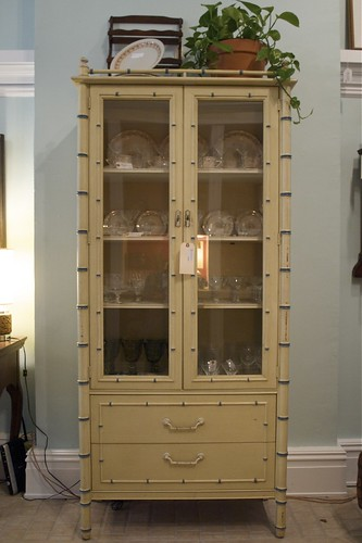Trash or cool faux bamboo cabinet on CL?