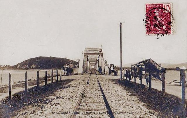 ANNAM - Pont du chemin de Fer de NAM-O - Ligne de Tourane à Hué 1908