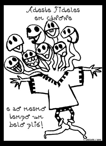 Adeste Fidelis em cânone e ao mesmo tempo um belo plié by O que dizem os monstros