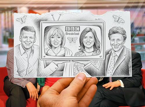 """Pencil Vs Camera for """"BBC Breakfast"""""""
