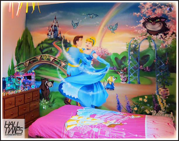 D coration chambre enfant cendrillon flickr photo sharing for Peinture chambre enfant