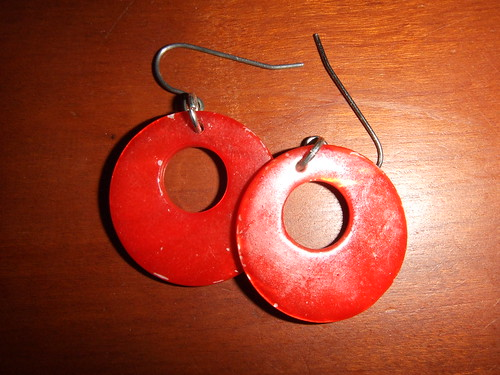 target orange donut earrings