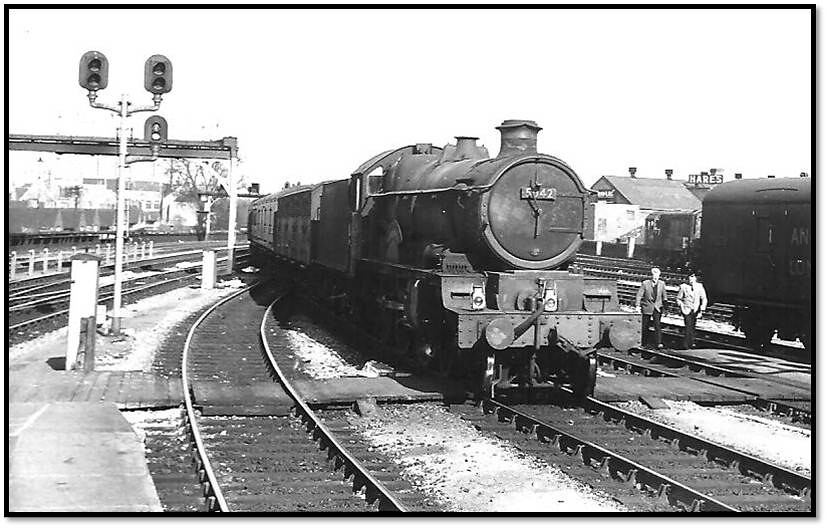 5042 arrives on a parcels train at Temple Meads on Thursday March 26 1964