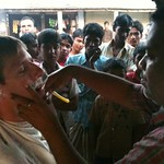 I got a shave in Bengladesh. Caused a traffic jam.