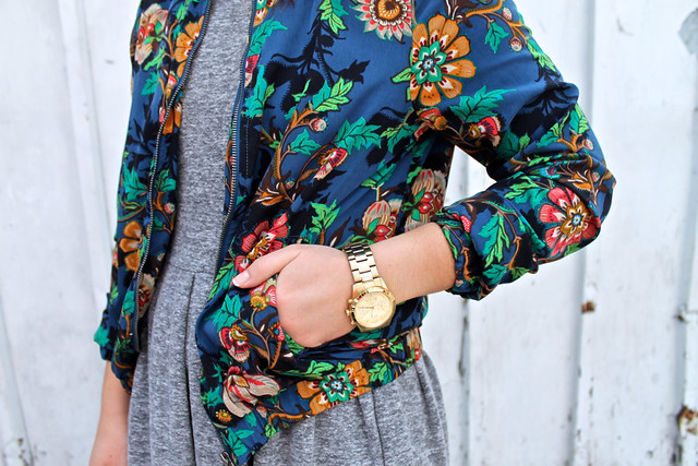 oversized gold watch