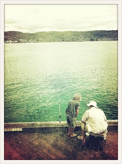Fishing off the Pier with Grandpa