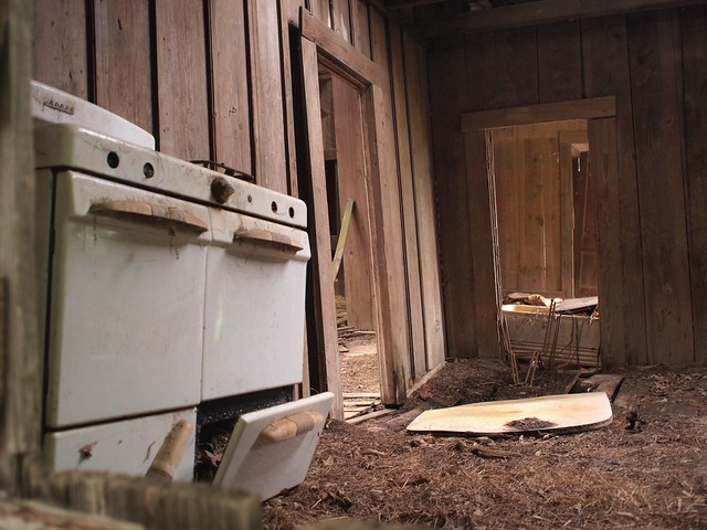Abandoned stove.