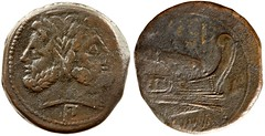 97/B1 = 97/22b Luceria P-L As. Third phase. Janus  / P; Pi, I / Prow / L / ROMA. Hannover 25g33