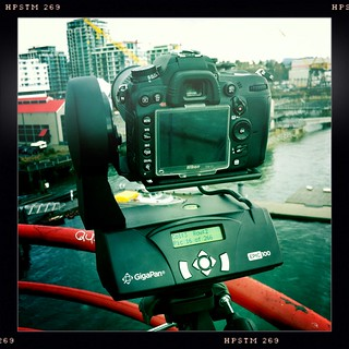 Trying the Gigapan again from the Lonsdale Quay sign tower