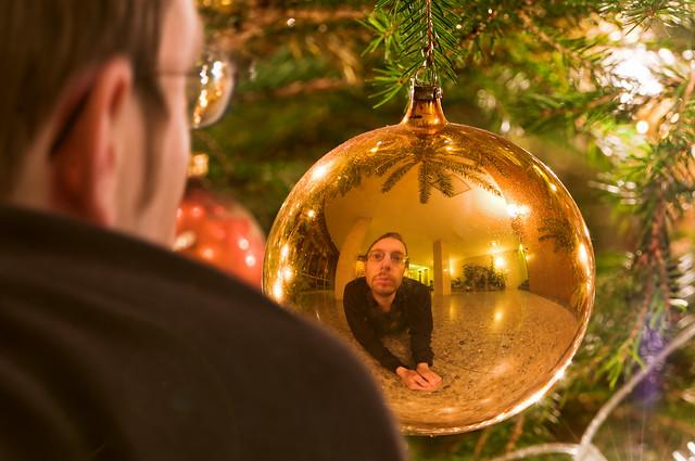 Christmas ball reflection flickr photo sharing