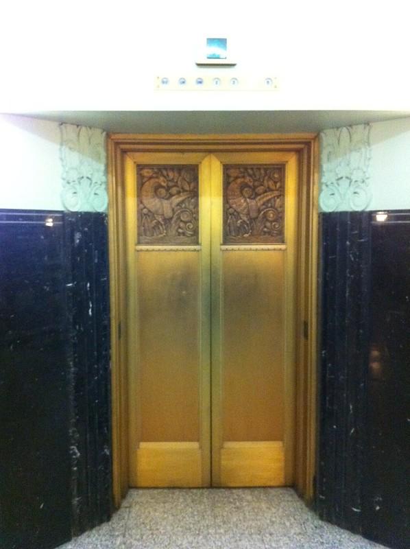 Bronze elevator doors
