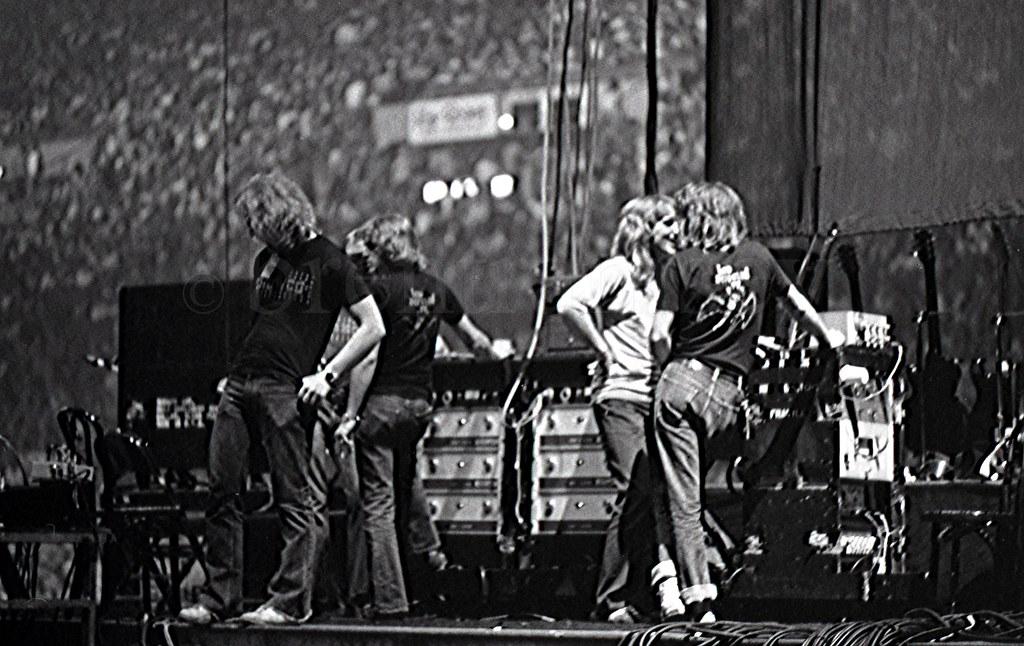 Roadies on stage