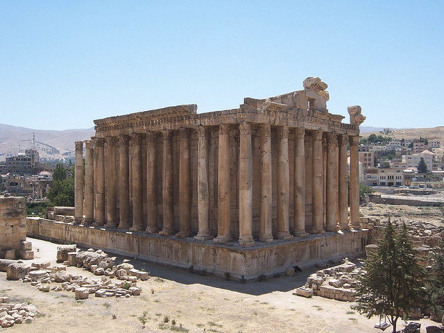 The Temple of Bacchus at Baalbek by CC user isawnyu on Flickr
