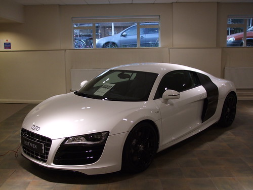 White Audi R8 Black Rims | Celebrity Exposez