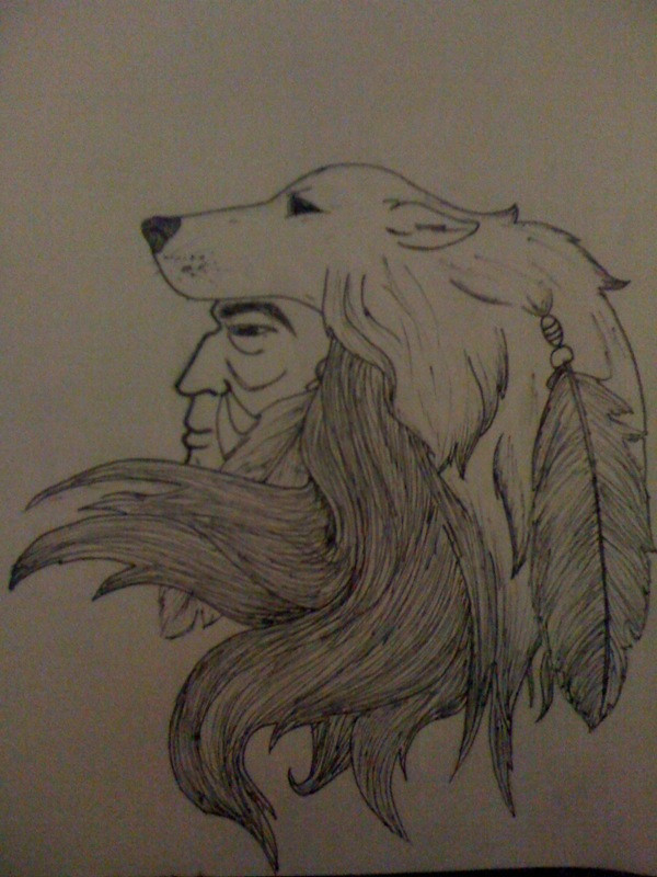 Bear headdress drawing - photo#42