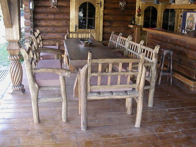 Mesa y sillas r sticas de madera flickr photo sharing - Mesa y sillas para ninos de madera ...