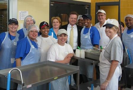 Sen  Webb at Central Virginia Foodbank | June 13, 2008 - Sen
