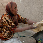 Turning Shrak (flat bread) on the Pan - Ghor al Mazra'a, Jordan