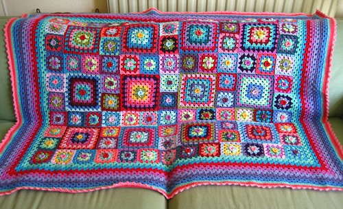 Sweet Flower Granny Blanket