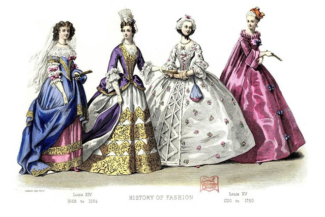 French Fashion Plate - 1668-1760