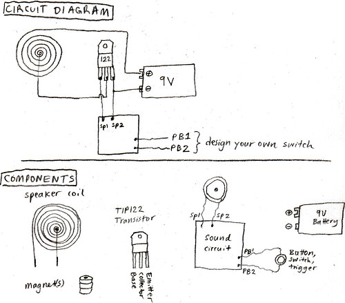 how to get what you want Sound Amplifier Diagram amplified greeting card sound circuit