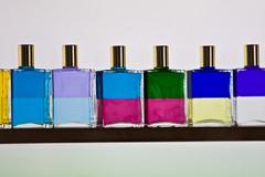 perfume, purple, violet, glass bottle, bottle, blue, cosmetics,