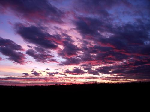 pink sunset sky crimson clouds countryside hungary colours purple finepix fujifilm s1800