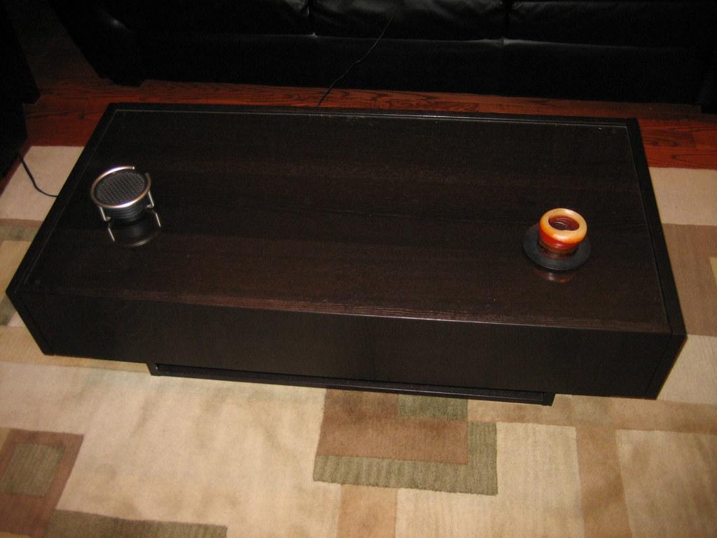 Top storage coffee table coffee table 48 glass top table for Coffee table with storage and glass top