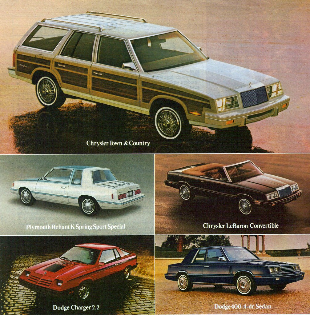 1982 Chrysler Town & Country Station Wagon, LeBaron Convertible ...