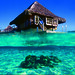 Overwater bungalow at InterContinental Bora Bora Le Moana Resort & Spa