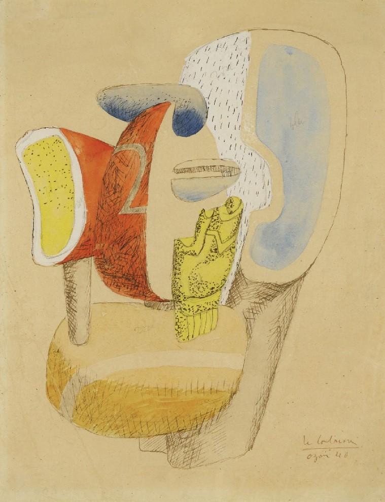 [ C ] Le Corbusier - Etude de Sculpture Ozon (1940)