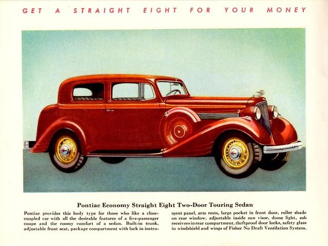1934 pontiac economy straight eight two door touring sedan for 1934 pontiac 4 door sedan