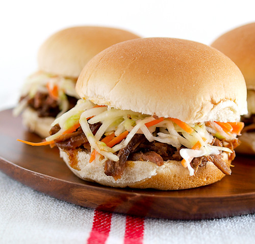 Shredded Beef Sliders with Carrot Apple Slaw - Evil ...