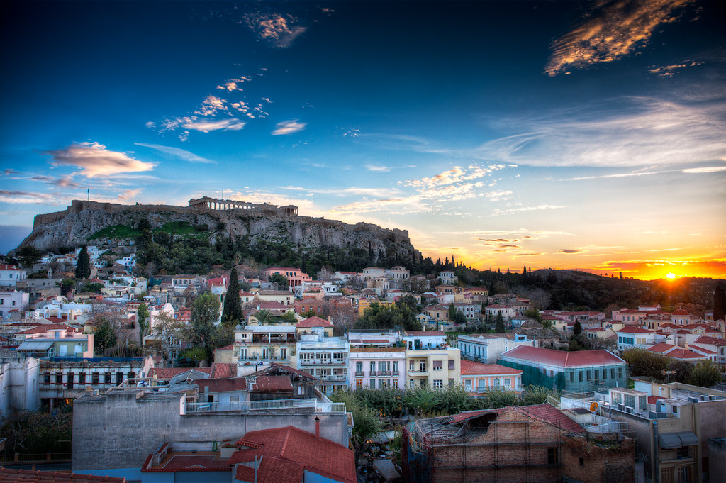 Acropolis Sunset - (HDR Athens, Greece)