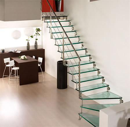 Dale a tu hogar una imagen moderna con escaleras de cristal - Escaleras de cristal templado ...
