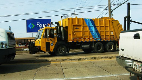 Eddie's Rail Fan Page: A large yellow CCC garbage truck ...