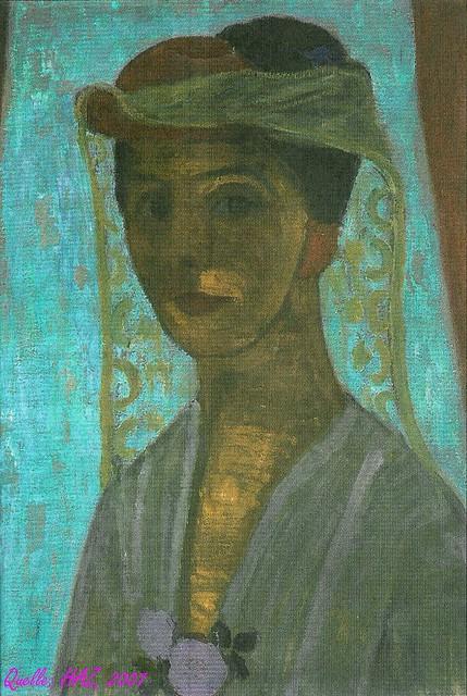 Paula Modersohn-Becker 'Selbstbildnis mit Hut und Schleier' 1906/1907