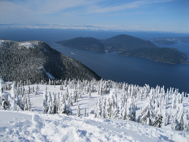 Cypress Mountain, Mt. Strachan side.. on the top of Mount Strachan..