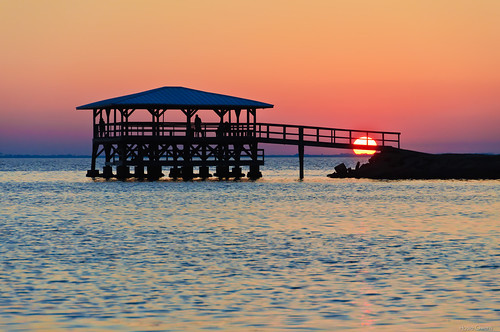 sunset pier florida portstjoe
