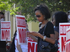 Texting and protesting