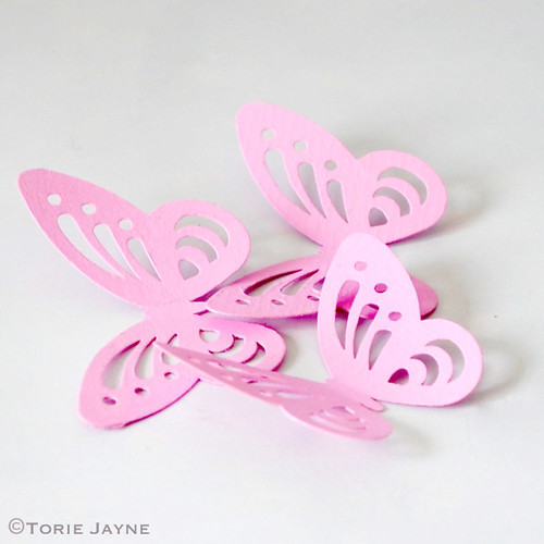 Painted punched butterflies