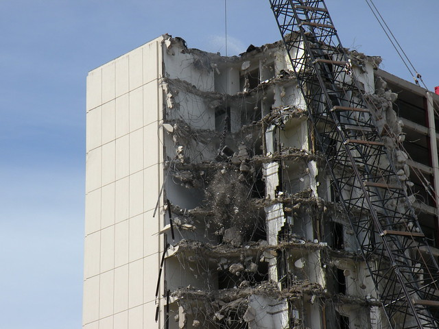 High Rise Demolition : Cabrini green high rise demolition flickr photo sharing
