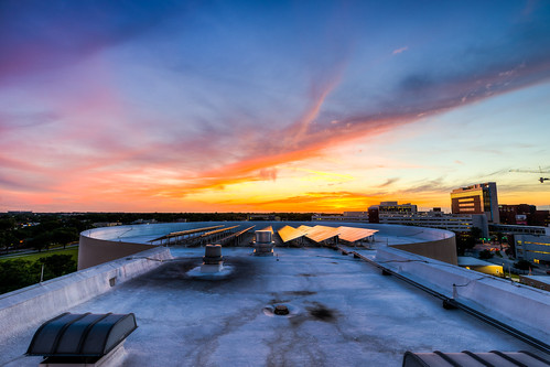 roof sunset party skyline dinner hospital orlando unitedstates florida terrace center science system event resources cinedome