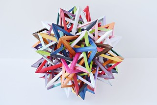 """Event Horizon"" Twenty Interlocking Irregular Augmented Tetrahedra (Byriah Loper)"