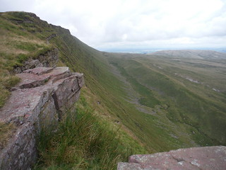 Fan Hir Escarpment, and moraine at the bottom of it