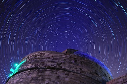 Circular Star Trails: Well, it is the Round Tower